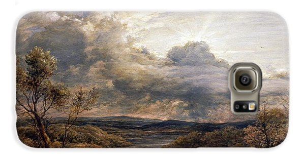 Sun Behind Clouds Galaxy S6 Case by John Linnell