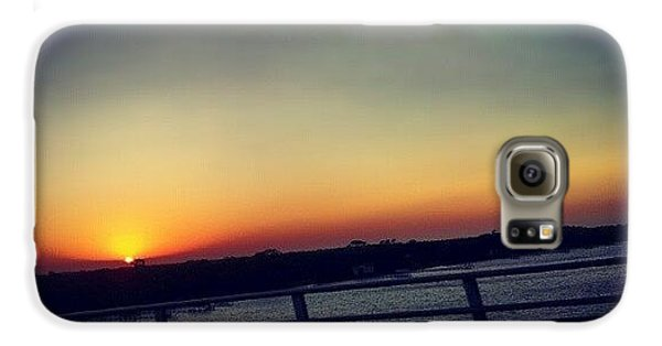 Cool Galaxy S6 Case - #sunset #rainbow #cool #bridge #driving by Mandy Shupp