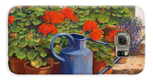 Garden Galaxy S6 Case - The Blue Watering Can by Anthony Rule