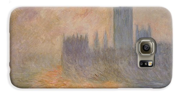 The Houses Of Parliament At Sunset Galaxy S6 Case by Claude Monet