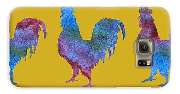 Three Roosters Galaxy S6 Case by Jenny Armitage