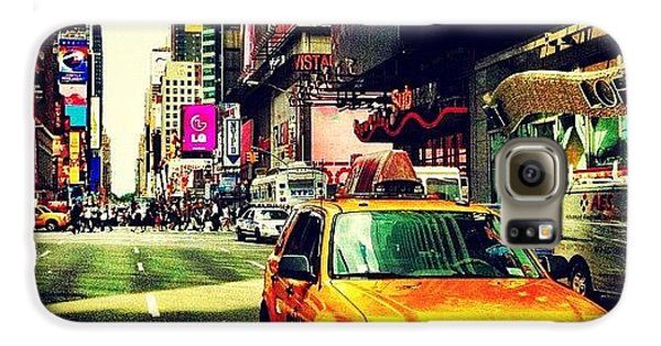 City Galaxy S6 Case - Times Square Taxi by Luke Kingma