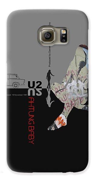 U2 Poster Galaxy S6 Case by Naxart Studio