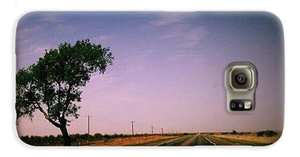 #usa #america #road #tree #sky Galaxy S6 Case by Torbjorn Schei