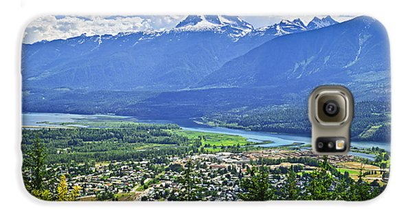 Town Galaxy S6 Case - View Of Revelstoke In British Columbia by Elena Elisseeva