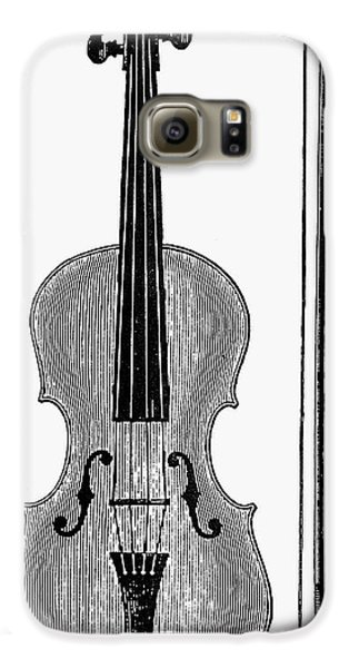 Violin Galaxy S6 Case - Violin And Bow by Granger