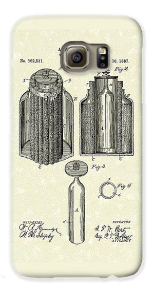 Voltaic Battery 1887 Patent Art Galaxy S6 Case