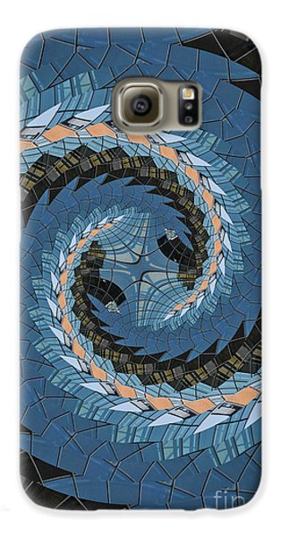 Galaxy S6 Case featuring the photograph Wave Mosaic. by Clare Bambers