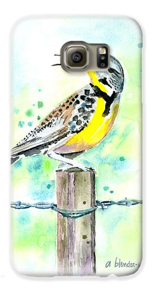Western Meadowlark Galaxy S6 Case by Arline Wagner