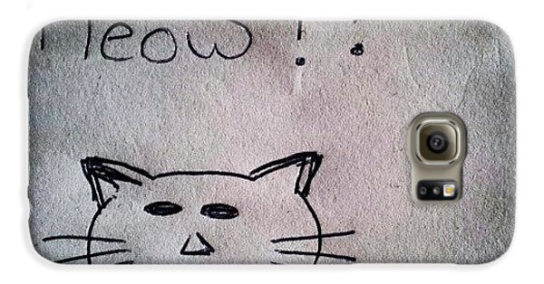 Follow Galaxy S6 Case - What My Room Mates Draw! #cat #drawing by Abdelrahman Alawwad