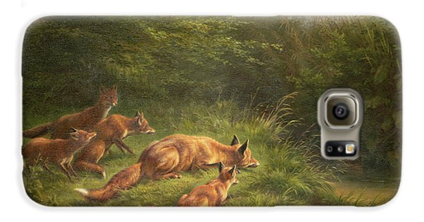 Foxes Waiting For The Prey   Galaxy S6 Case