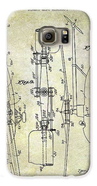 Helicopter Galaxy S6 Case - 1935 Helicopter Patent  by Jon Neidert