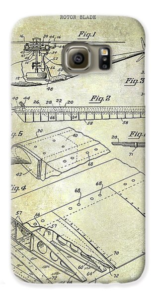 1949 Helicopter Patent Galaxy S6 Case by Jon Neidert