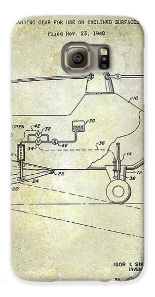 1953 Helicopter Patent Galaxy S6 Case by Jon Neidert