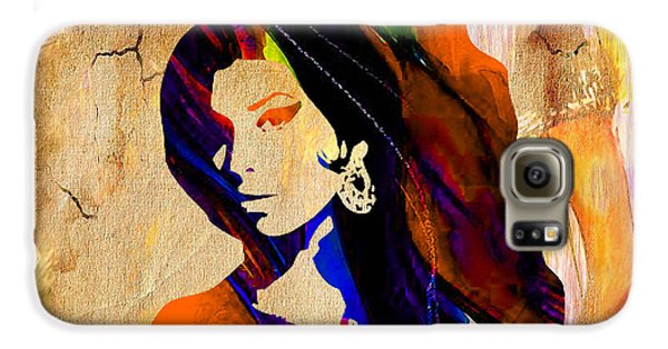 Amy Winehouse Galaxy S6 Case by Marvin Blaine