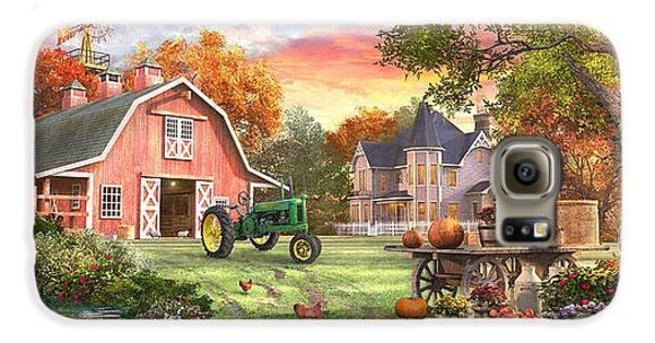 Geese Galaxy S6 Case - Autumn Farm by Dominic Davison