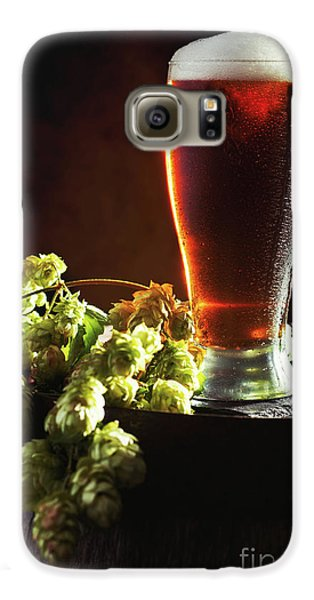 Beer And Hops On Barrel Galaxy S6 Case by Amanda Elwell