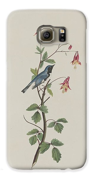 Black-throated Blue Warbler Galaxy S6 Case by Rob Dreyer