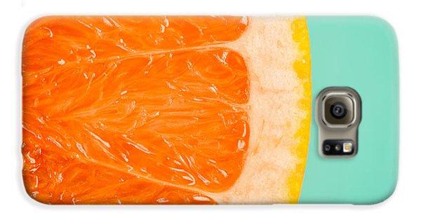 Blood Orange Slice Macro Details Galaxy S6 Case by Radu Bercan