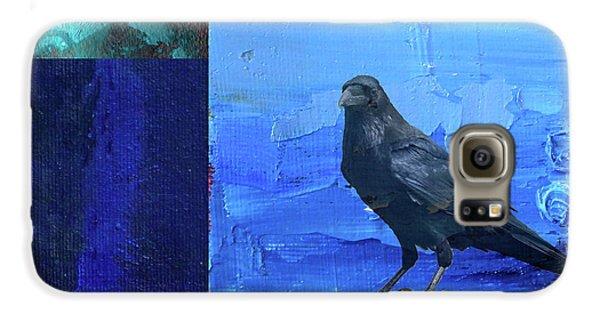 Galaxy S6 Case featuring the digital art Blue Raven by Nancy Merkle