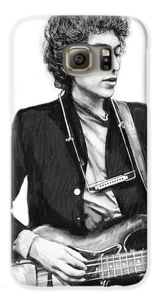 Bob Dylan Drawing Art Poster Galaxy S6 Case by Kim Wang