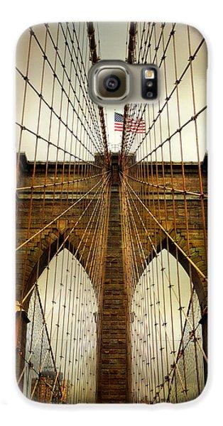 Brooklyn Bridge Twilight Galaxy S6 Case by Jessica Jenney