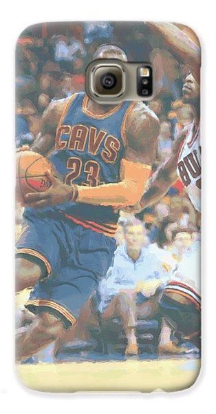Cleveland Cavaliers Lebron James 2 Galaxy S6 Case by Joe Hamilton