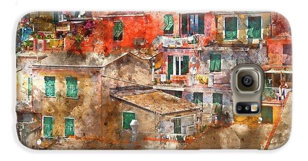 Colorful Homes In Cinque Terre Italy Galaxy S6 Case