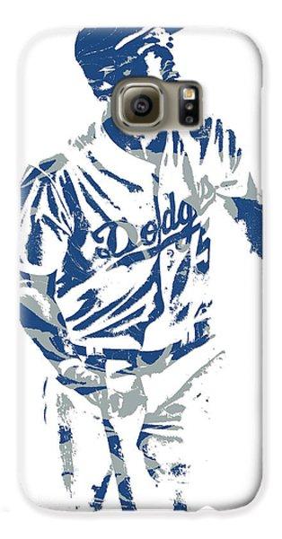 Los Angeles Dodgers Galaxy S6 Case - Corey Seager Los Angeles Dodgers Pixel Art 10 by Joe Hamilton