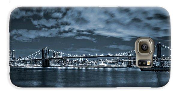 Brooklyn Bridge Galaxy S6 Case - East River View by Az Jackson