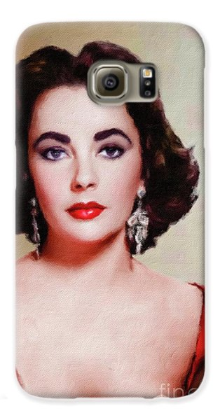 Elizabeth Taylor Hollywood Actress Galaxy S6 Case by Mary Bassett