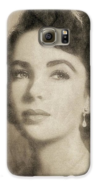 Elizabeth Taylor, Vintage Hollywood Legend By John Springfield Galaxy S6 Case