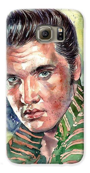 Elvis Presley Galaxy S6 Case - Elvis Presley Portrait by Suzann's Art