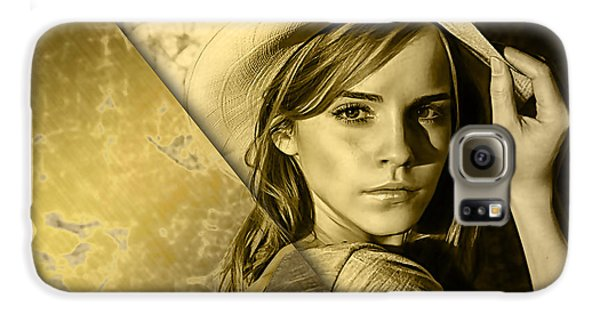Emma Watson Collection Galaxy S6 Case by Marvin Blaine