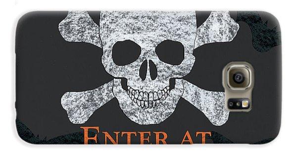 Bat Galaxy S6 Case - Enter At Your Own Risk  by Debbie DeWitt
