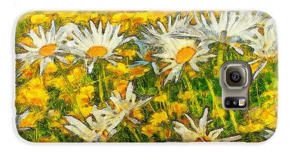 Field Of Daisies Galaxy S6 Case