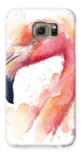 Flamingo Watercolor Galaxy S6 Case