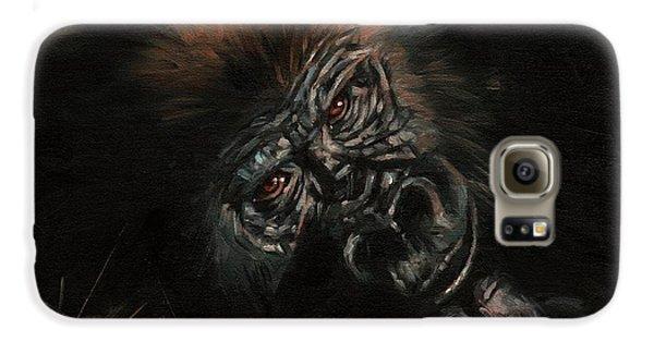 Gorilla Galaxy S6 Case - Gorilla by David Stribbling