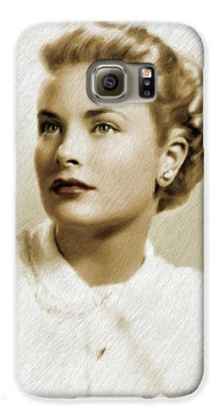Grace Kelly Galaxy S6 Case - Grace Kelly, Vintage Actress by Mary Bassett