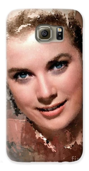 Grace Kelly, Vintage Hollywood Actress Galaxy S6 Case by Mary Bassett