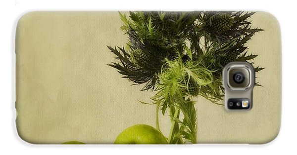 Still Life Galaxy S6 Case - Green Apples And Blue Thistles by Priska Wettstein