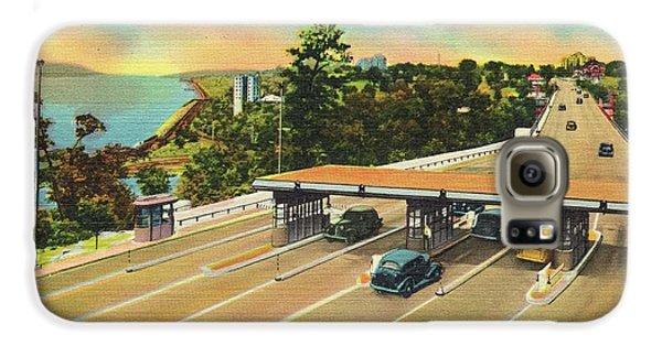 Henry Hudson Bridge Postcard  Galaxy S6 Case by Cole Thompson