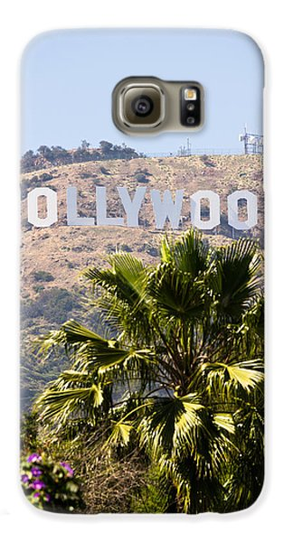 Hollywood Sign Photo Galaxy S6 Case by Paul Velgos