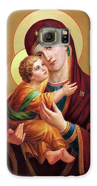 Galaxy S6 Case - Holy Mother Of God - Blessed Virgin Mary by Svitozar Nenyuk
