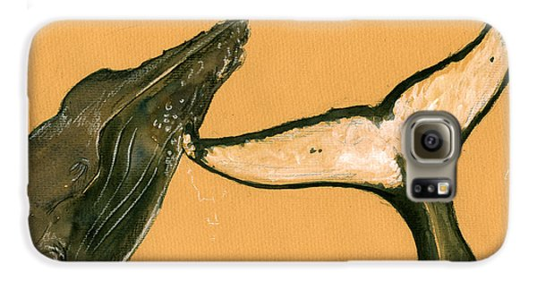 Humpback Whale Painting Galaxy S6 Case by Juan  Bosco