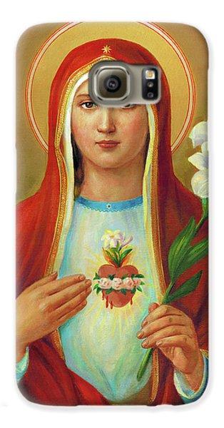 Galaxy S6 Case - Immaculate Heart Of Mary by Svitozar Nenyuk