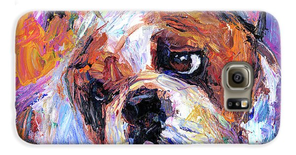Impressionistic Bulldog Painting  Galaxy S6 Case