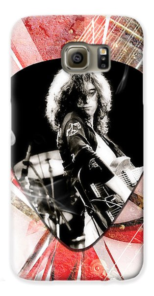 Jimmy Page Led Zeppelin Art Galaxy S6 Case by Marvin Blaine