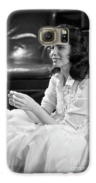 June Carter, 1956 Galaxy S6 Case by The Harrington Collection
