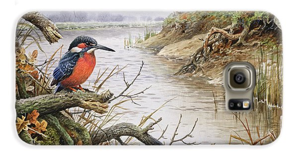 Kingfisher Galaxy S6 Case - Kingfisher by Carl Donner